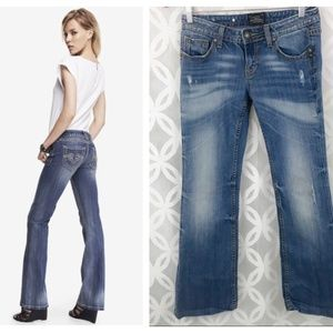 Rerock for Express Distressed Boot Cut Jeans